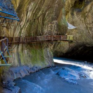 Die Gorges du Trient bei Vernayaz, VS