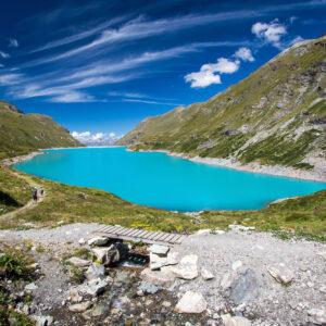 Ein letzter Blick zurück auf den Lac de Moiry