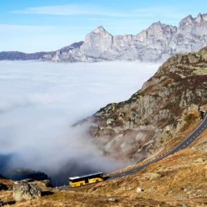 Bergfahrt vor traumhafter Kulisse