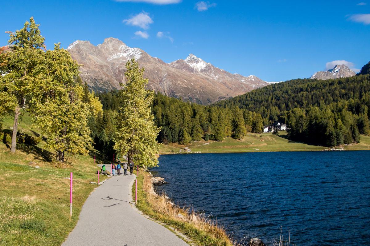Wanderung dem St. Moritzersee entlang...
