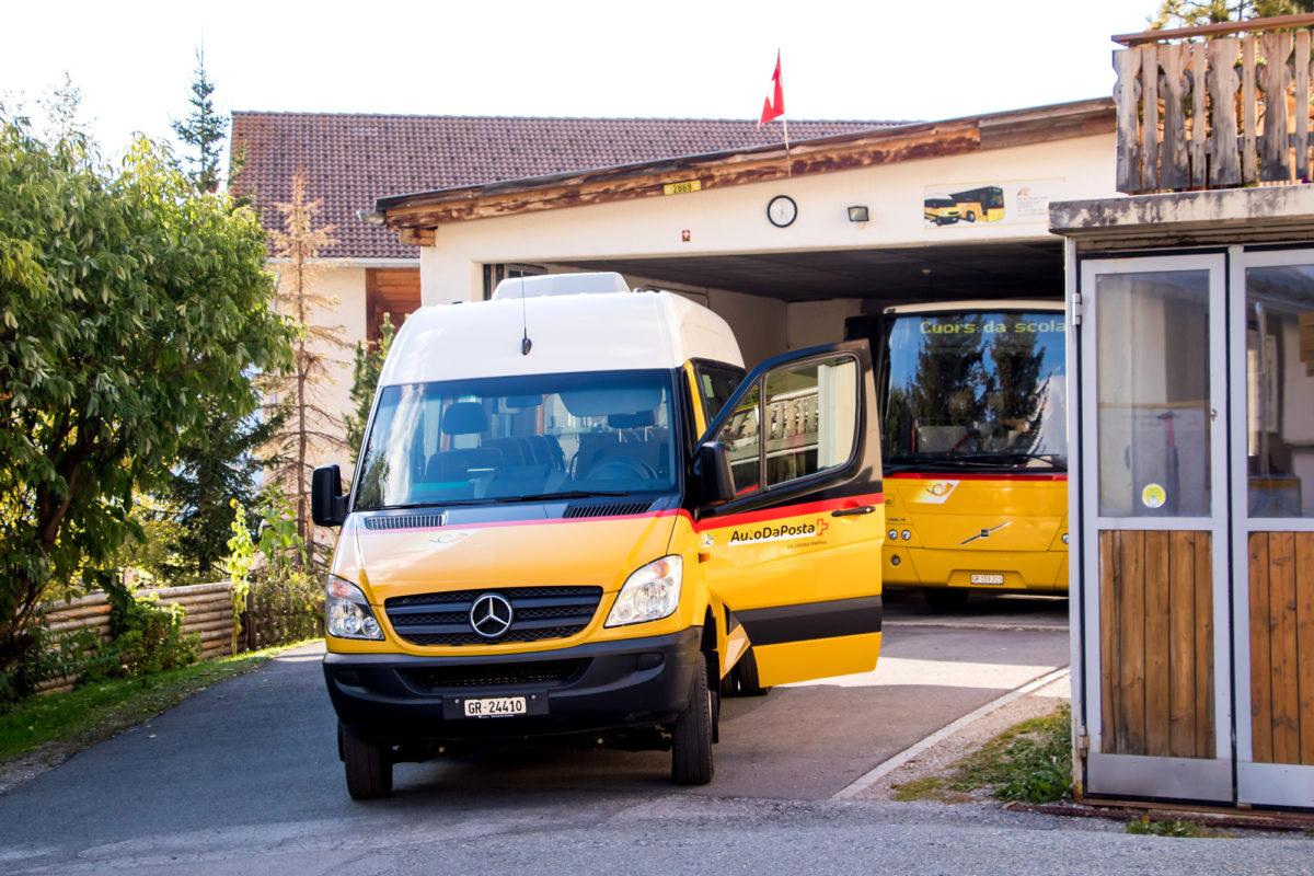 In Lü ist auch der Postautobetrieb Val Müstair zuhause