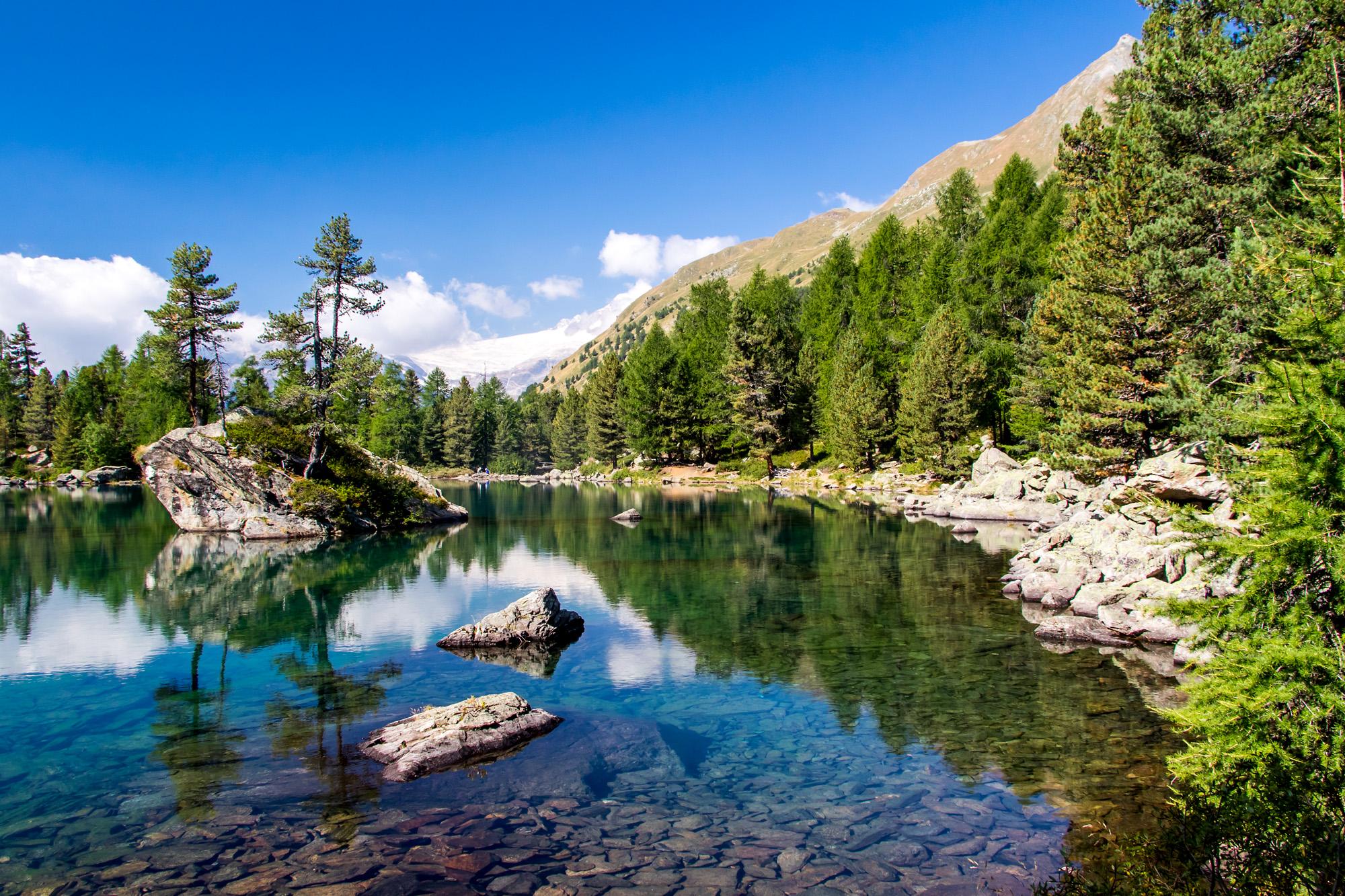 Ziel der Wanderung: Der Lagh Saoseo, weitherum bekannt für sein tiefes Türkisblau!
