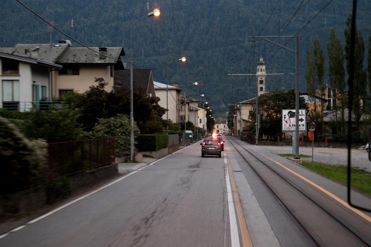 ...und schon fahren wir in Tirano ein.