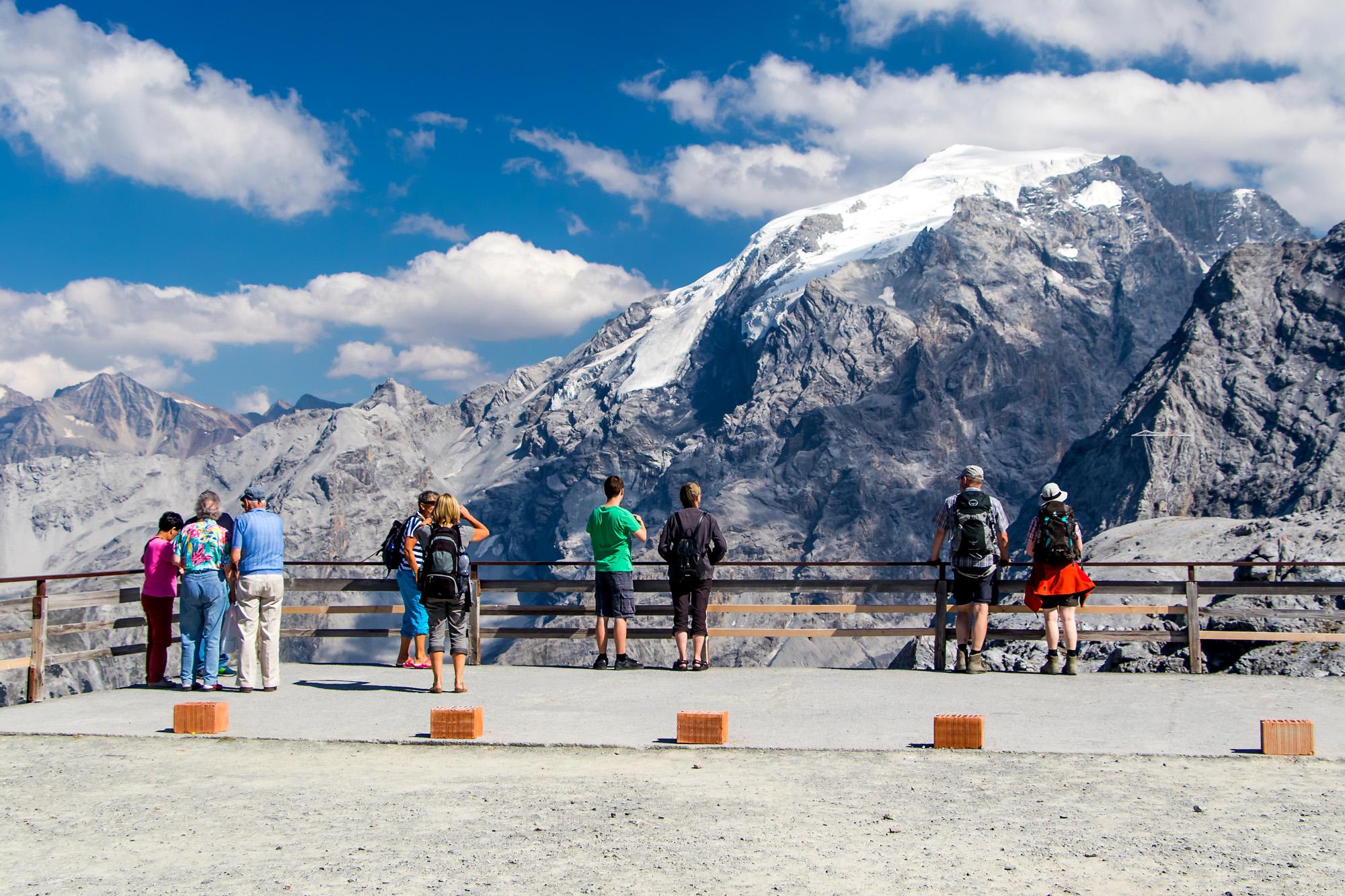 Berge bestaunen - Blick aufs Ortlermassiv...
