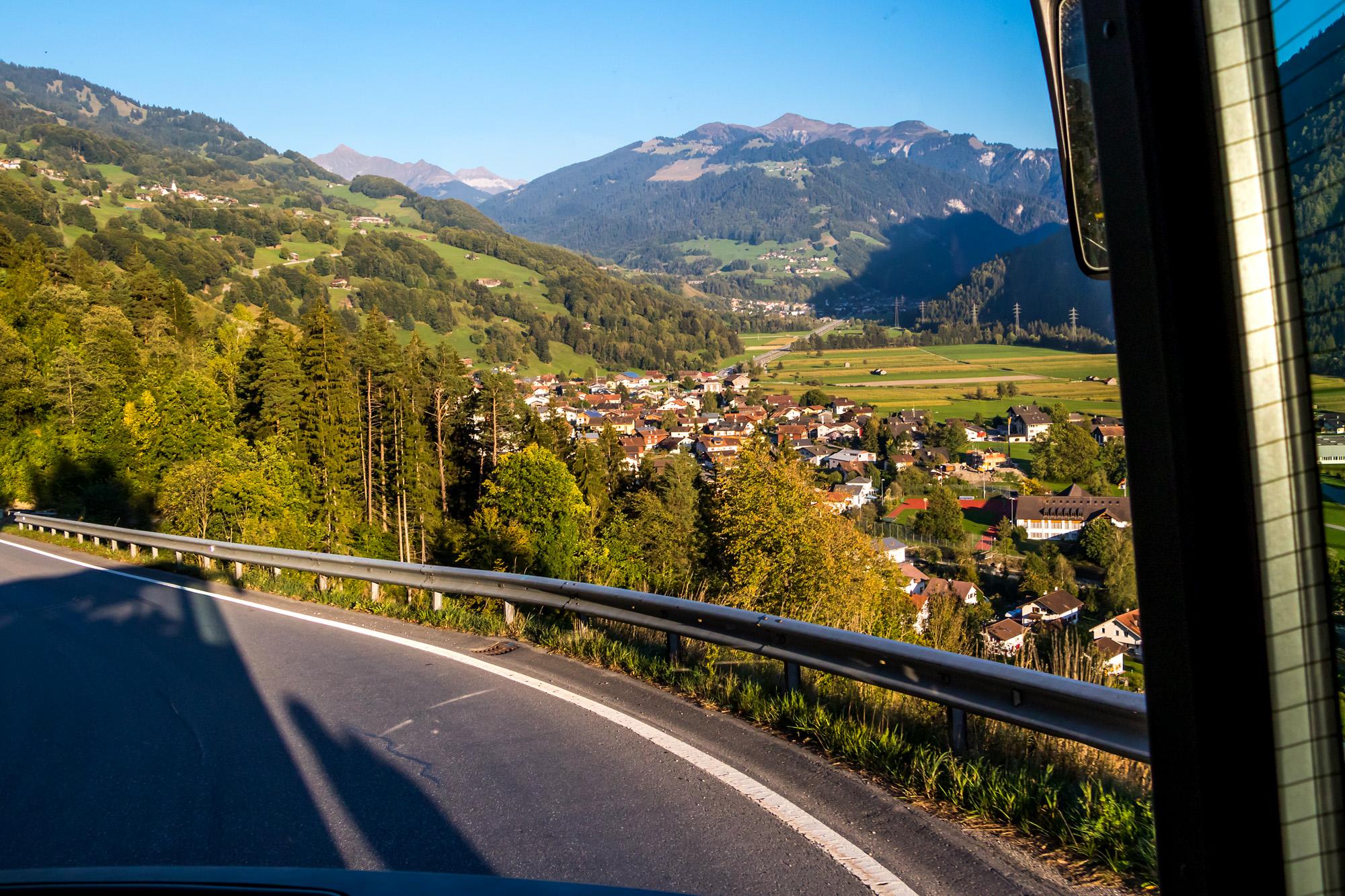 Nach dem Halt in Seewis geht's zurück ins Tal...