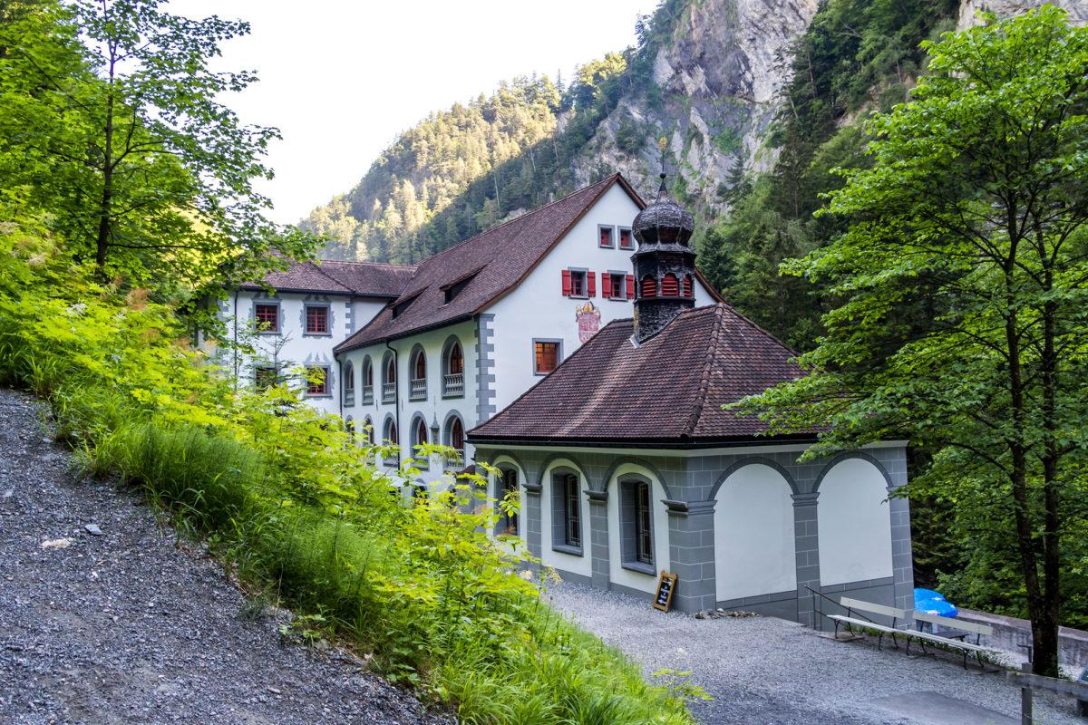 Das alte Bad von Pfäfers, der älteste barocke Bäderbau der Schweiz. Fertiggestellt im Jahr 1718