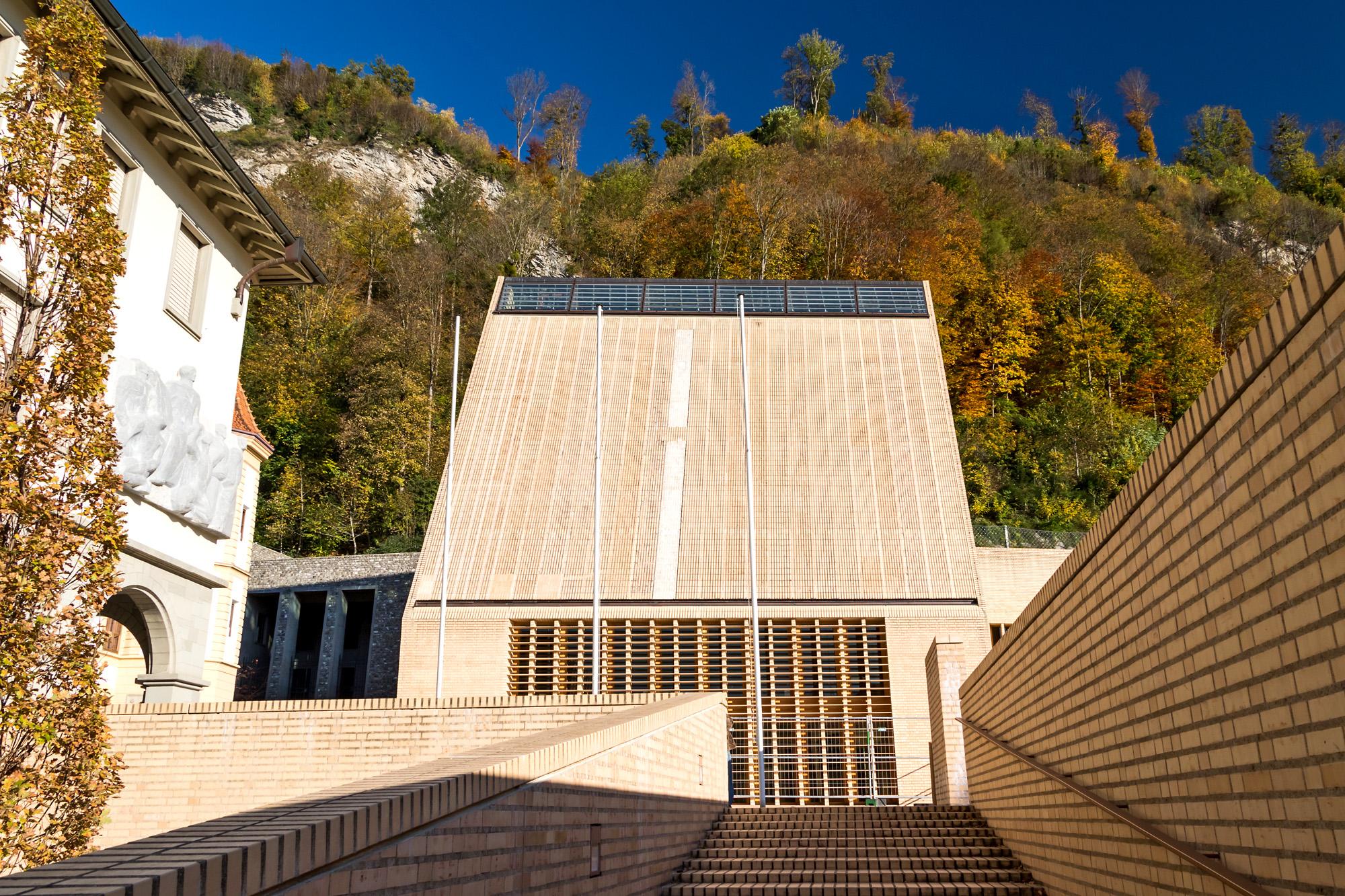 Architektonisches Statement: Das Landtagsgebäude aus dem Jahr 2008