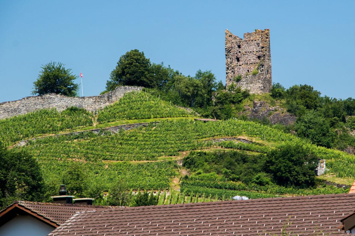 Burg Freudenberg bei Bad Ragaz, entstanden um das Jahr 1250