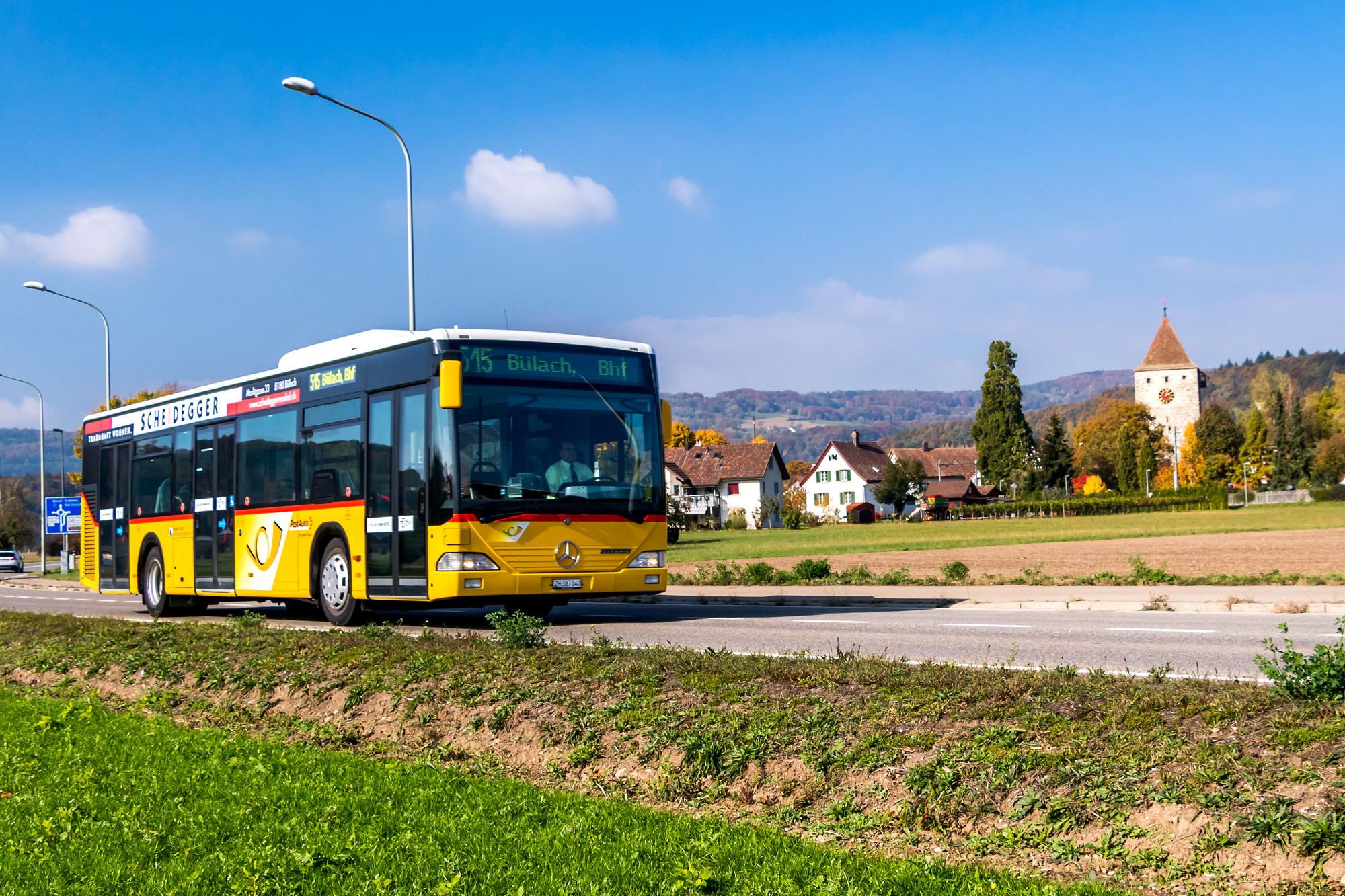 Ein Zürcher in der Fremde: Citaro von ABSN im Aargauischen Kaiserstuhl