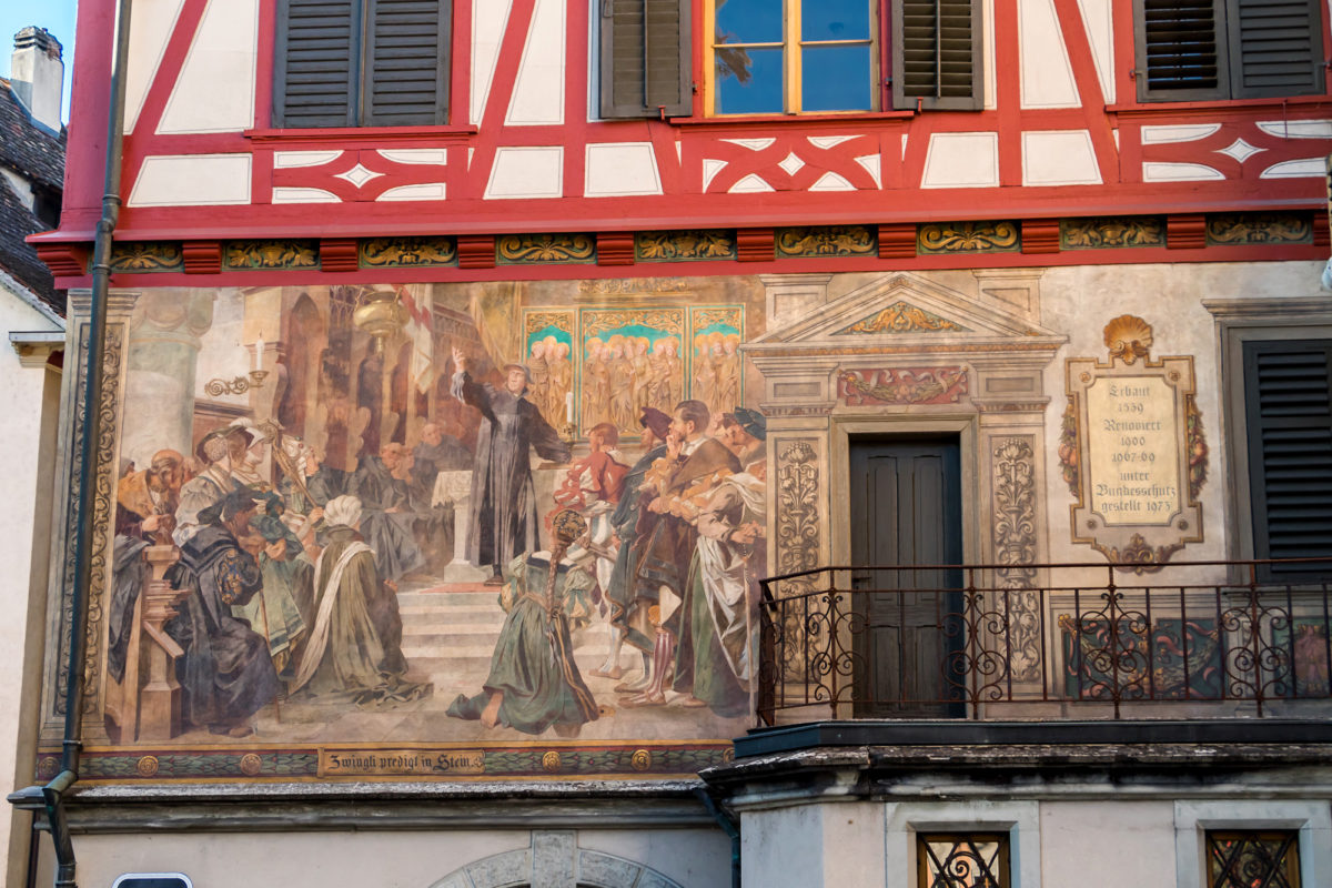 Auch Zwingli wurde verewigt :)