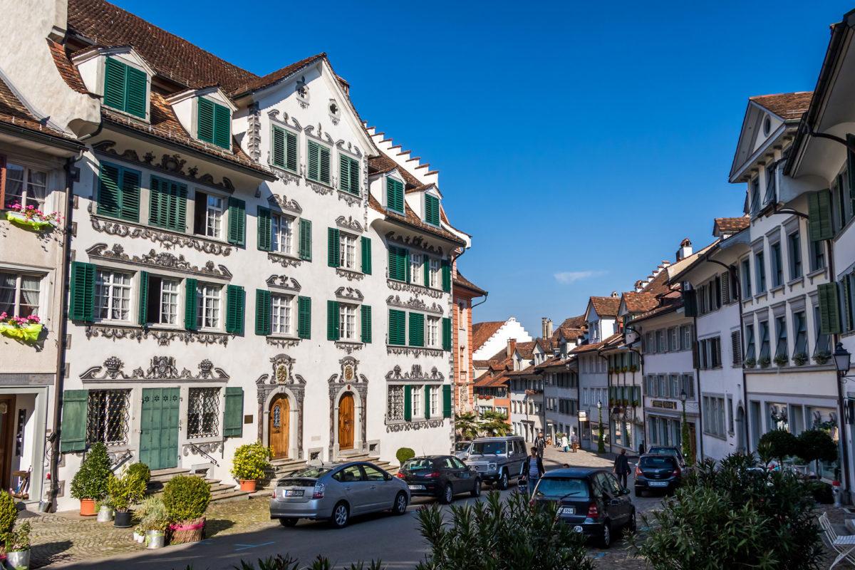 In der beschaulichen Altstadt von Bischofszell (TG)