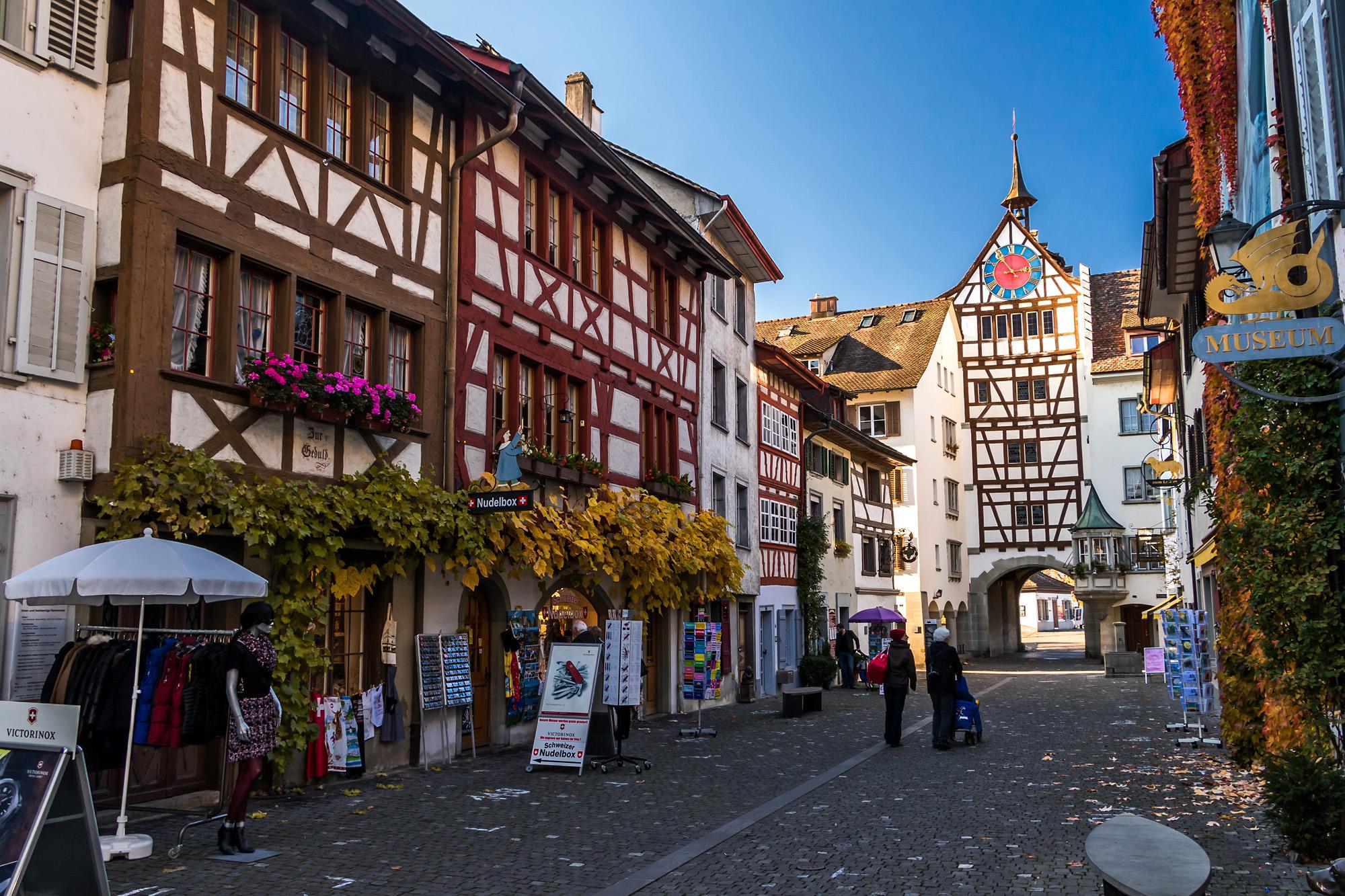 Willkommen in den Gässchen von Stein am Rhein - hier beim Untertor