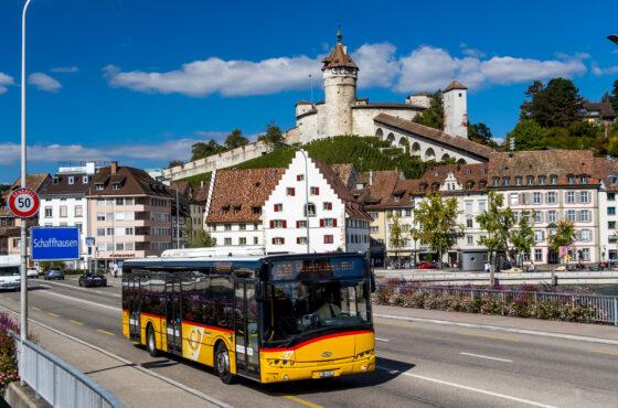 55: Marthalen – Schaffhausen – Rheinfall – Rheinau – Marthalen