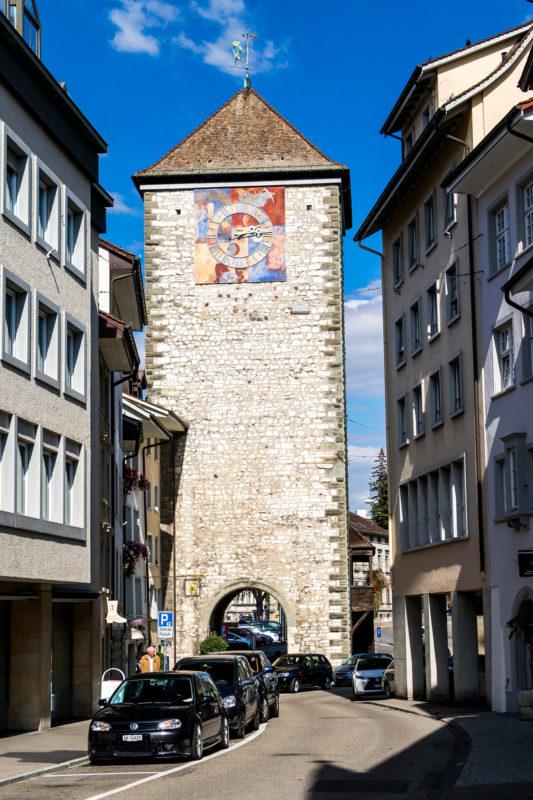 Das Schwabentor von 1361, der Abschluss der Stadtbefestigung gegen Norden - also eben gegen das Schwabenland