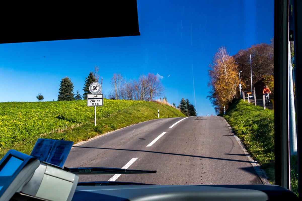 Der Aufstieg nach Oberwil-Lieli ist strapaziös - nicht nur für Ausländer :-)
