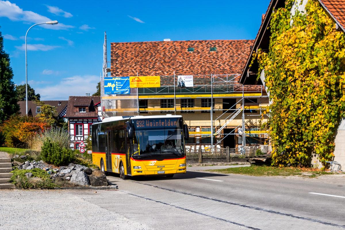 Das Göppeli für die Fahrt nach Weinfelden