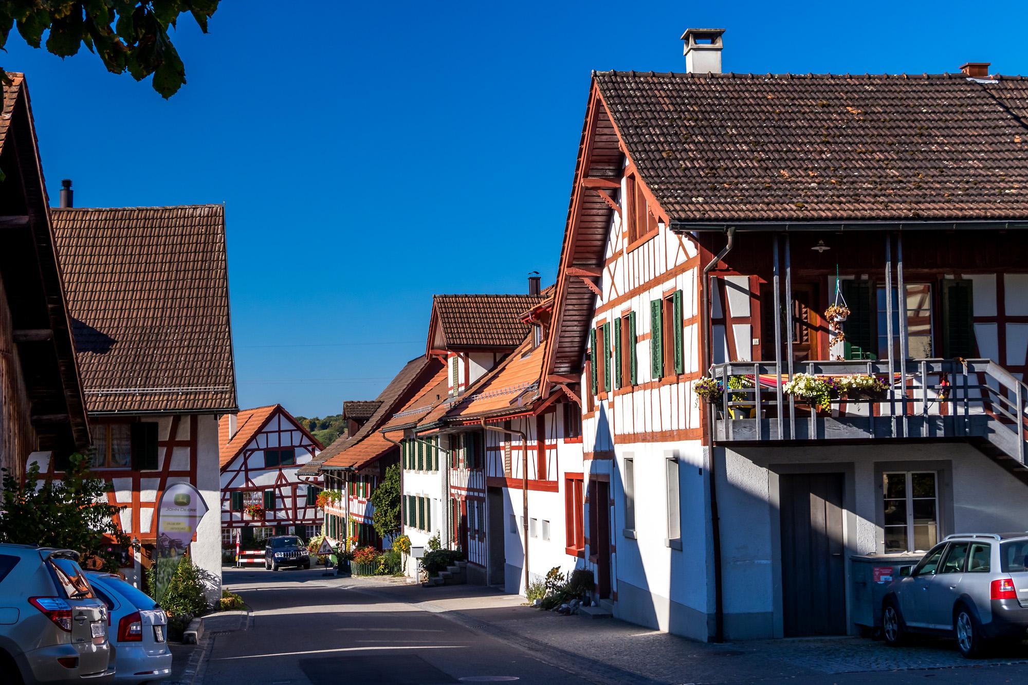 Blick hinab ins Unterdorf