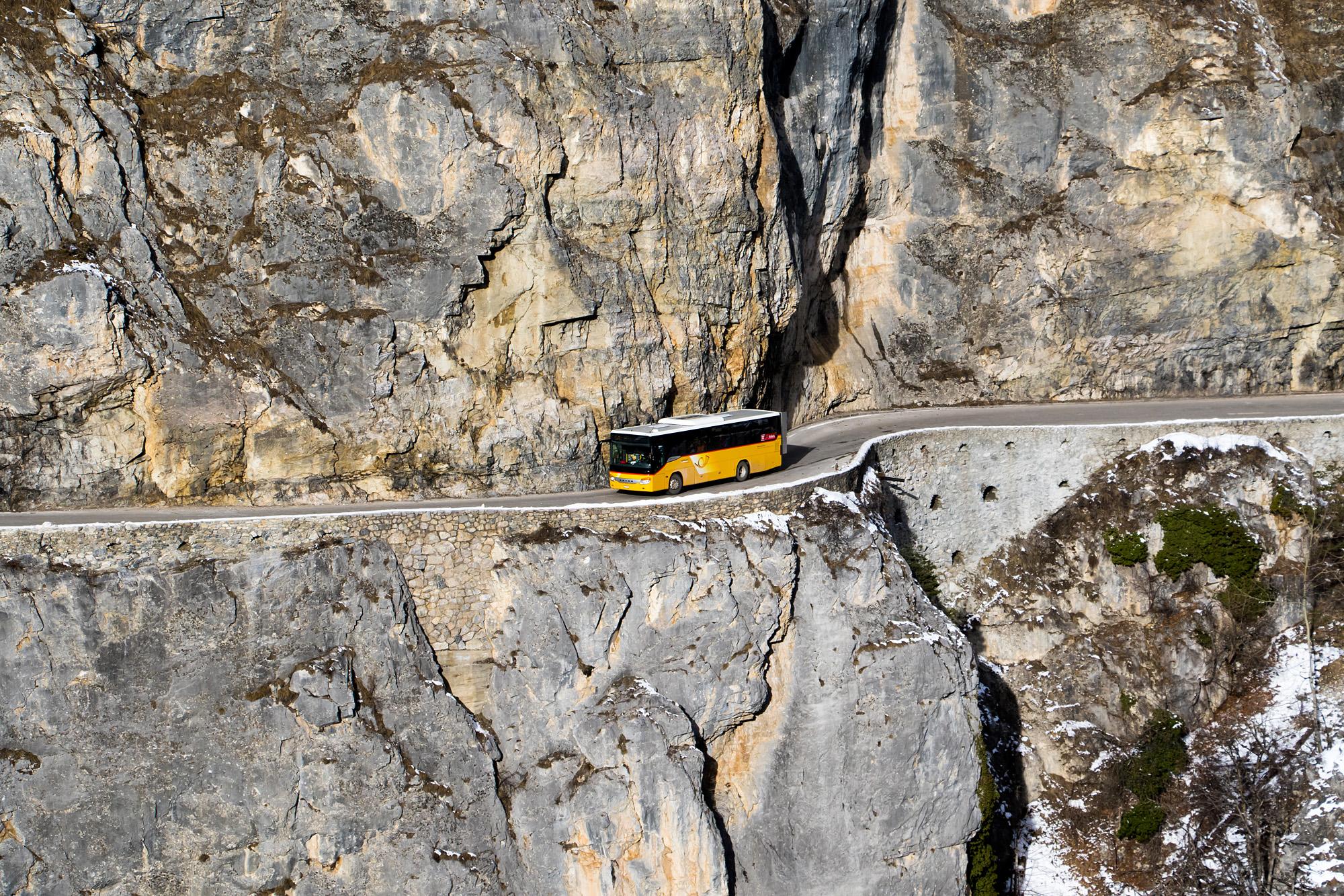 Die Streckenführung der Route ins Val d'Anniviers ist nicht zu verachten!