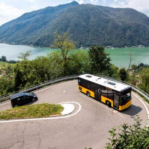 Bergfahrt über dem Lago di Lugano (TI)